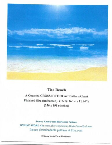 The Beach ~ Seascapes ~ Counted Cross Stitch Pattern