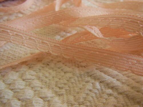 ancienne dentelle vintage rose travaillée bordure 10 métreS A4