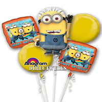 Despicable Me Minions Authentic Licensed Foil / Mylar Balloon Bouquet