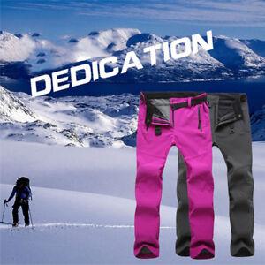 Outdoor-Hiking-Ski-Pants-Women-Warm-Fleece-Padded-Windproof-Waterproof-Trousers