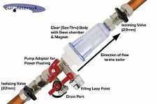 EURO FILTER : Junior Plus Central Heating Magnetic Boiler Filter : Pump Adapter