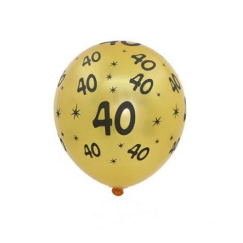 40th 50th 10pcs Happy Birthday Balloons Anniversary Party Supplies Wedding