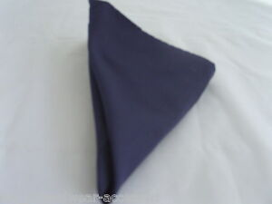 Navy-Blue-Polyester-Pocket-Hankie-12-034-x-12-034-gt-More-Squares-U-Buy-gt-gt-More-U-Save
