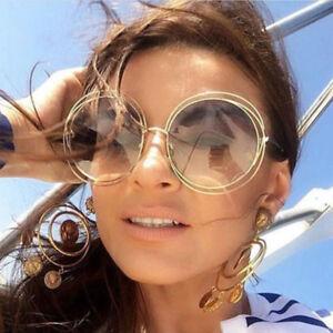 Oversized-Round-Sunglasses-Fashion-Women-Large-Size-Big-Retro-Shades-Tea-Color