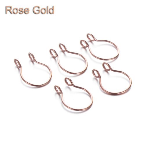 Stainless Steel Women Fake Nose Ring Faux Septum Body Jewelry Cilp On Hoop