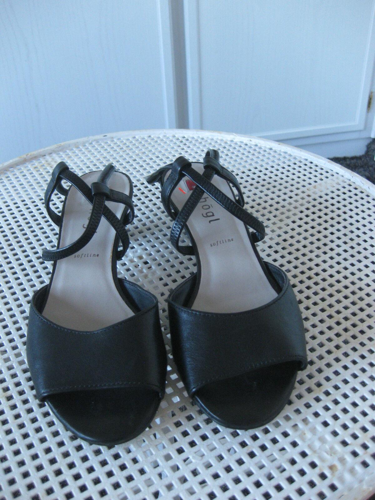 Högl-tolle Leder- Sandalee Gr. 4,5  37,5   schwarz  neu