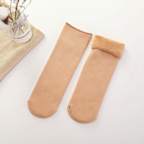 Winter Warm Socks Women Thicken Thermal Fleece Lining Tube Floor Boots Socks New