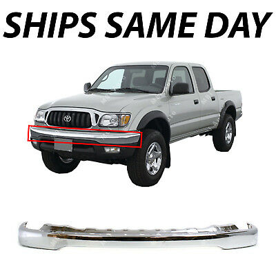 Chrome Finish Front Bumper For 2001-2004 Toyota Tacoma Steel
