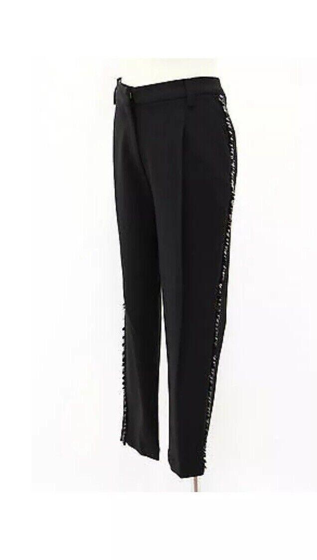 3555 Brunello Cucinelli Women's Sequined Tuxedo Dress Pants Size 44 8 US