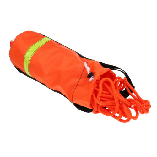 21m 8mm Buoyant Rescue Throw Rope Bag Swim Kayaking Boating Safety Equipment