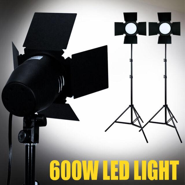 Eyem261 Lusana Studio 600 Led Daylight Barndoor Lighting Professional Light Stand Kit 761691356967