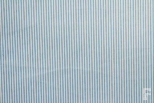 Ancho 112 CM 3MM Rayas En Tela Poli Algodón Estampada
