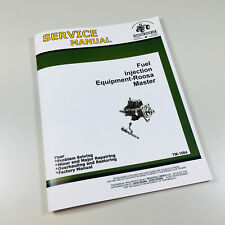 Roosa Master Fuel Pump Service Manual For John Deere 6600 6602 7700 Combine