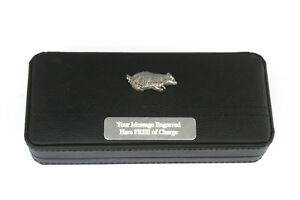 Badger Black Ball Point Pens In Gift Case FREE ENGRAVING Wildlife Gift V0M2UabX-09104329-782784949
