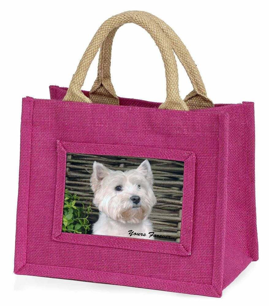 DéLicieux West Highland 'yours Forever' Little Girls Small Pink Shopping Bag C, Ad-w33ybmp Utilisation Durable