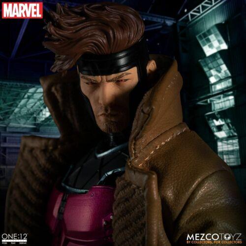 1//12 Scale Mezco Marvel Mutant Gambit Collectible Action Figure