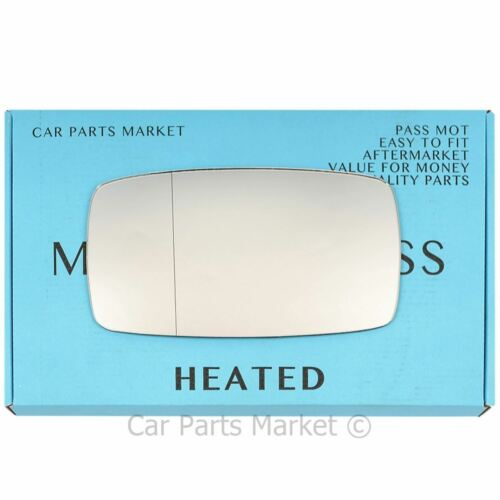 Left side Wide Angle Wing mirror glass for Porsche 924 76-88 heated