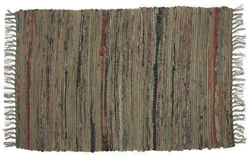 "12/""x18/"" Hand Woven Cotton Placemat Sturbridge Design Matches Rugs Khaki Brown"