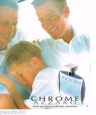 PUBLICITE ADVERTISING 065  1996  AZZARO  parfum homme CHROME