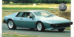 1981/1980/1979 Lotus Esprit Spezial Folie/broschüre/katalog/prospekt Farben Sind AuffäLlig Accessoires & Fanartikel
