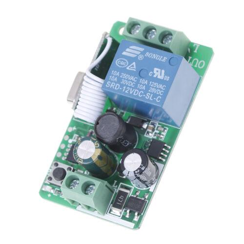 1-Channel AC 220 V sans fil Fréquence Radio Télécommande Récepteur Relais Commutateur 433 MHz EP