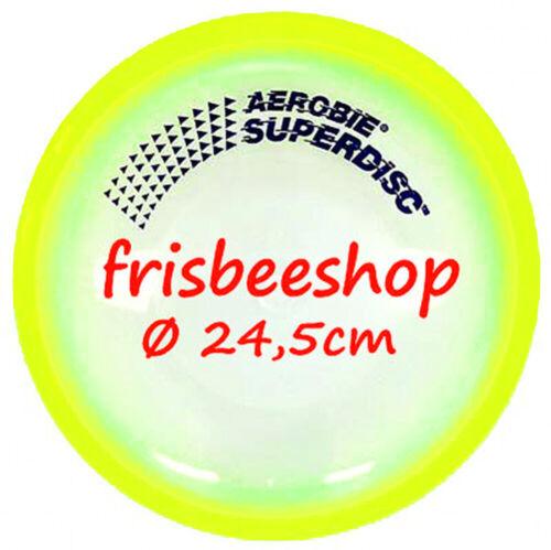 NG AEROBIE SUPERDISC Frisbee mit GUMMIRAND GELB SPAREN mit Kombiversand