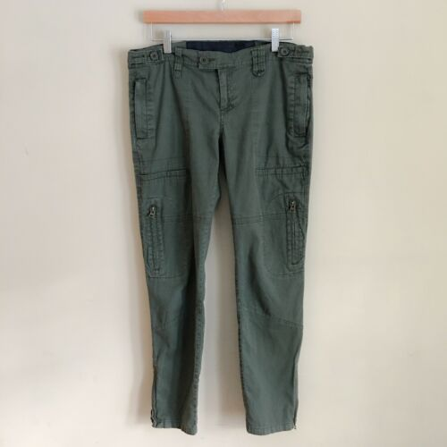 JOE'S Olive Green Military Cargo Skinny Pants Wome