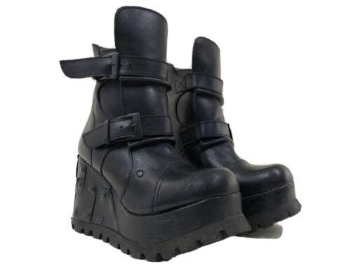 Vintage 90s shellys Platform Leather Black Boots