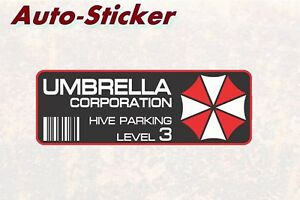 Umbrella-Corporation-parking-Bunte-Sticker-Aufkleber-Digital-JDM-Style-Tuning