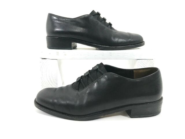 on feet shots of good selling classic style WOMENS PAUL GREEN Black LEATHER SUEDE GORE SLIP-ON Oxfords SHOES AU 4 US 4 M