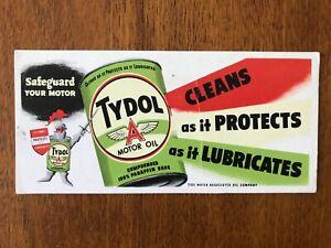 Tydol motor oil ink blotter - Tide Water Associated Oil Company
