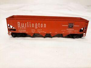 HO-Burlington-Route-CB-amp-Q-Coal-Car-Athearn-Train-Car-hoppers-open-on-bottom
