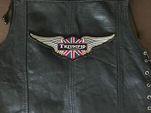 TRIUMPH-Patch-UNION-Backpatch-XXL-26-5x8-3cm-habito-MC-Biker-England-vintage