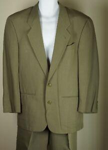 Men-039-s-Emporio-Armani-Suit-Coat-Jacket-Blazer-2-Button-Pant-Sage-Size-44-Vintage