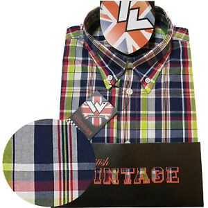 Warrior-UK-England-Button-Down-Shirt-CRAIG-Hemd-Slim-Fit-Skinhead-Mod