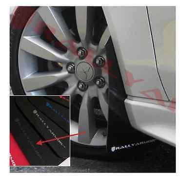 Rally Armor 07-15 Mitsubishi Lancer ES DE GTS Black UR Mud Flaps Kit GREY Logo