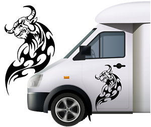1ft-x-20-034-Large-300mm-x-500mm-Bull-Car-Van-caravan-boat-Window-Sticker-decal