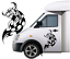 1ft-x-20-034-Large-300mm-x-500mm-Bull-Car-Van-caravan-boat-Window-Sticker-decal thumbnail 1