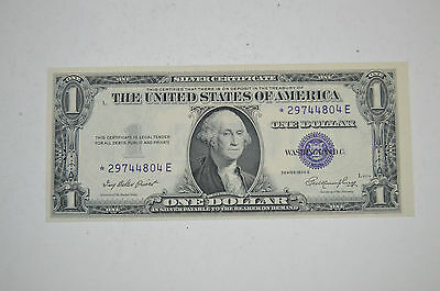 1935E $1 Star Silver Certificate Note, One Dollar Bill with Star Uncirculated