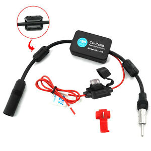 Car-Stereo-FM-amp-AM-Radio-Signal-Antenna-Aerial-Signal-Amp-Amplifier-Booster-Inline