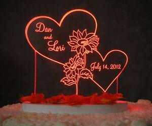 plastic wedding cake topper bases personalized sunflower acrylic wedding cake topper 18663