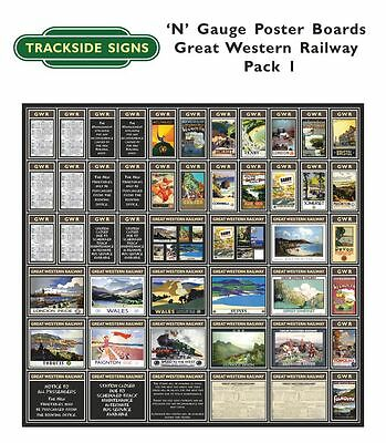 N Gauge 2mm - Die Cut Model Railway Posterboards - GWR Posterboards