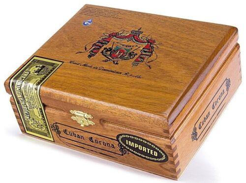 Short Story Flor Fina 8-5-8 Cuban Corona Arturo Fuente Empty Wooden Cigar Box
