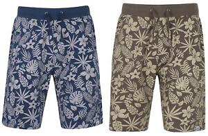 Mens-Sth-Shore-100-Cotton-Tonal-Print-Fleece-Shorts-with-Elasticated-Waist