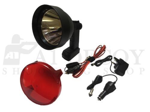 CACCIA LAMPADA LUCE LED CREE SPOT portatile ricaricabile filtro rosso