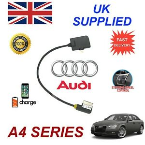 Genuine AUDI A4 iPhone SE 5 5c 5s 6 6s 7 8 Plus 10 some ipods Audio Cable 09+