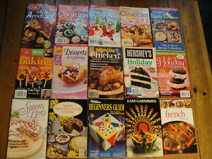 Lot-of-15-Assorted-Recipe-Booklets-Cookbooks-Taste-of-Home-Betty-Crocker-more