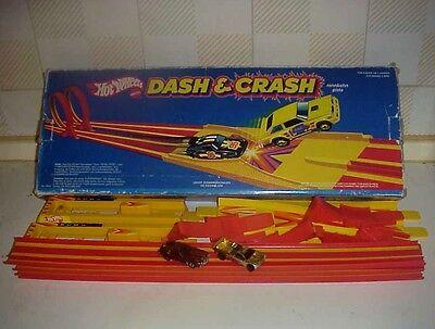 Attento Pista Hot Weels Dash & Crash 1982 Vintage Auto Da Corsa Gioco Giocattolo Raro