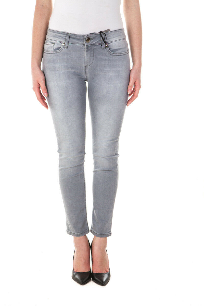 Siste's Jeans SKINNY Cotton MADE IN ITALY Woman Greys S0661T78 4