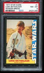 1977 Topps Star Wars Wonder Bread Trading Card #1 LUKE SKYWALKER PSA 8 NM-MT